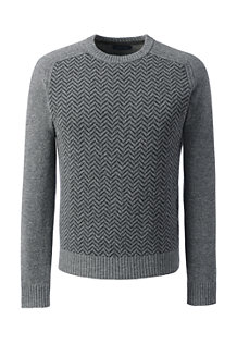 Men's Herringbone Lambswool Sweater