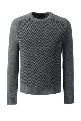 Men's Regular Herringbone Lambswool Sweater