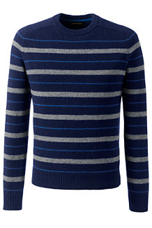 Men's Striped Lambswool Sweater