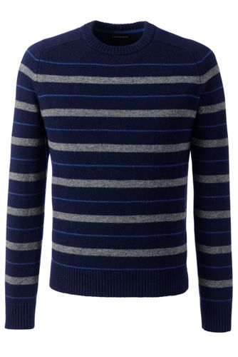 Men's Regular Striped Lambswool Sweater
