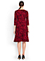 Women's Regular Flocked Print Ponte Jersey Dress
