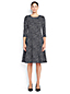 Women's Regular Pattern Ponte Jersey Flounce Dress