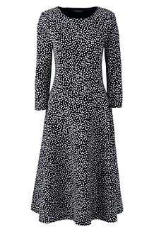 Women's Pattern Ponte Jersey Flounce Dress