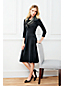 La Robe en Velours Stretch et Manches 3/4, Femme Stature Standard