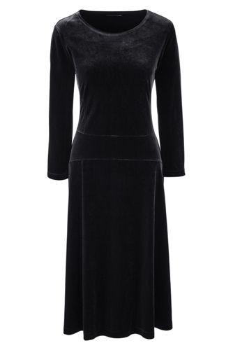 Women's Regular Velour Flounce Dress