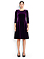 Women's Regular Velour Flounce Dress