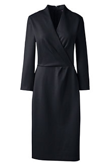 Women's Ponte Jersey Surplice Dress
