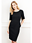Women's Regular Beaded Trim Ponte Jersey Dress