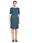 Women's Regular Pattern Ponte Jersey Darted Dress