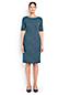 La Robe Ponté à Motifs Manches aux Coudes, Femme Stature Standard