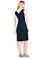 La Robe Elegance Rétro Stretch Unie, Femme Stature Standard