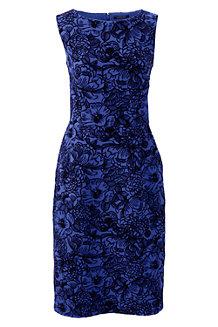 Women's Flock Print Ponte Jersey Darted Dress