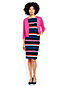 Women's Regular Stripe Ottoman Jersey Darted Dress