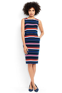 Women's Stripe Ottoman Jersey Darted Dress