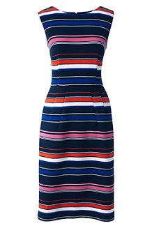 Women's Stripe Ottoman Jersey Darted Dress
