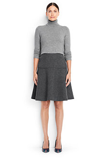 Women's Wool Blend Flounce Skirt