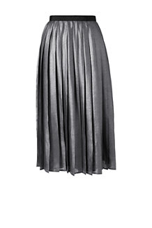 Women's Pleated Foil Print Midi Skirt