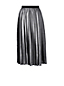 Women's Regular Pleated Foil Print Midi Skirt