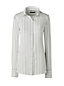 Women's Regular Long Sleeve Stripe Crepe Blouse