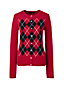 Women's Regular Cashmere Argyle Crew Neck Cardigan