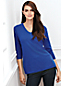 Women's Regular Three-quarter Sleeve Cashmere Tunic
