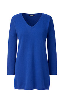 Women's Three-quarter Sleeve Cashmere Tunic