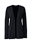 Women's Regular Cashmere Ribbed Open Cardigan