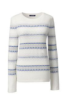 Kaschmir-Pullover mit Fairisle-Muster für Damen