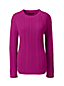 Women's Regular Cable Shaker Crew Neck Jumper