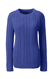 Women's Cable Shaker Crew Neck Jumper