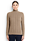 Women's Regular Fine Gauge Cable Roll Neck Jumper