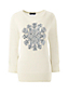 Women's Regular Supima Snowflake Crew Neck Jumper