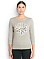 Le Pull Supima® Intarsia Manches 3/4, Femme Stature Standard