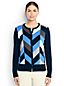 Women's Regular Fine Gauge Supima Intarsia Crew Neck Cardigan