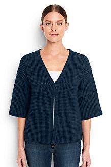 Women's  Lofty Cotton Textured V-neck Cardigan