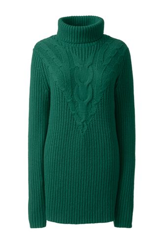 Women's Cable Turtleneck Sweater from Lands' End