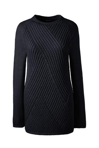 Le Pull à Côtes Diagonales, Femme Stature Standard
