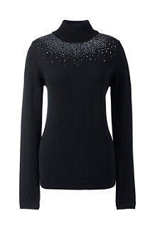 Women's Beaded Merino Rollneck Jumper