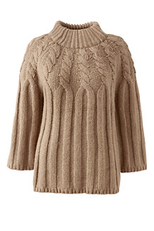 Women's Wool Blend Cable Funnelneck