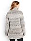 Handgestrickter langer Rollkragenpullover im Wollmix für Damen