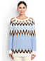 Women's Regular Cotton Blend Fair Isle Tunic