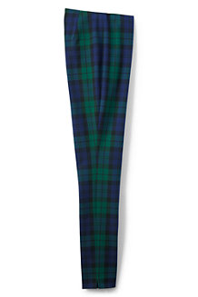 Women's Mid Rise Perfect Fit Plaid Trousers