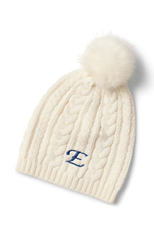 Women's Fine Gauge Cable Knit Beanie Hat
