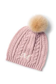 Women's Fine Gauge Cable Knit Beanie Hat