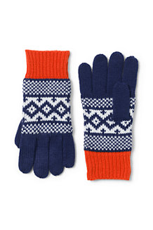 Girls' Fair Isle Knit Gloves
