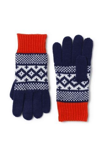 Girls Fair Isle Knit Gloves from Lands' End