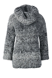 Women's Hand Knit Wool Blend Cowlneck Jumper