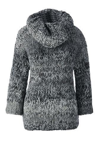 Women's Regular Hand Knit Wool Blend Cowlneck