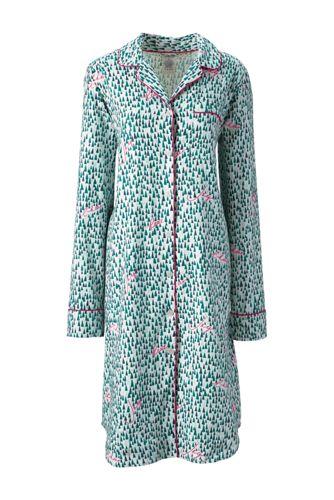 Women's Regular Flannel Patterned Nightdress