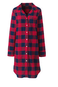 5a36b50c0e Women s Long Sleeve Print Flannel Nightshirt